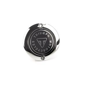 Triumph Chrome Clutch Badge - Street Twin / T120 / Thruxton