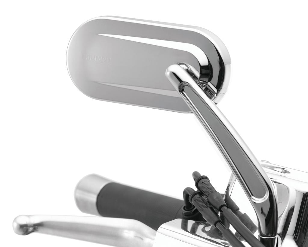Triumph Oval Mirrors Solid Stems - America / Speedmaster / Bonneville / Rocket / Thunderbird / Storm / LT