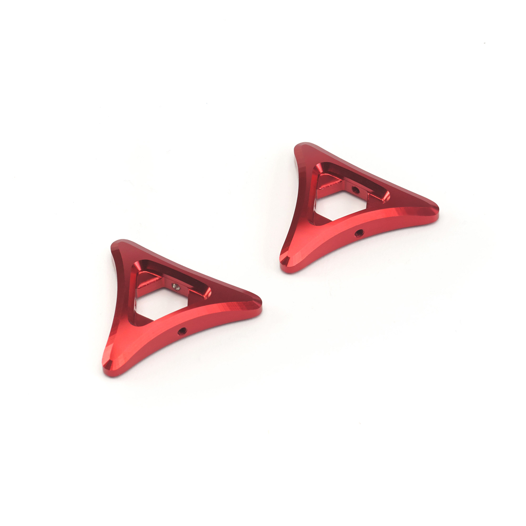 Triumph 675 Billet Machined Preload Adjusters - Red