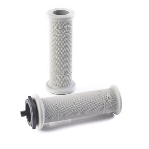 Triumph Handelbar Grips - Daimond Knurl - Grey - 25.4mm