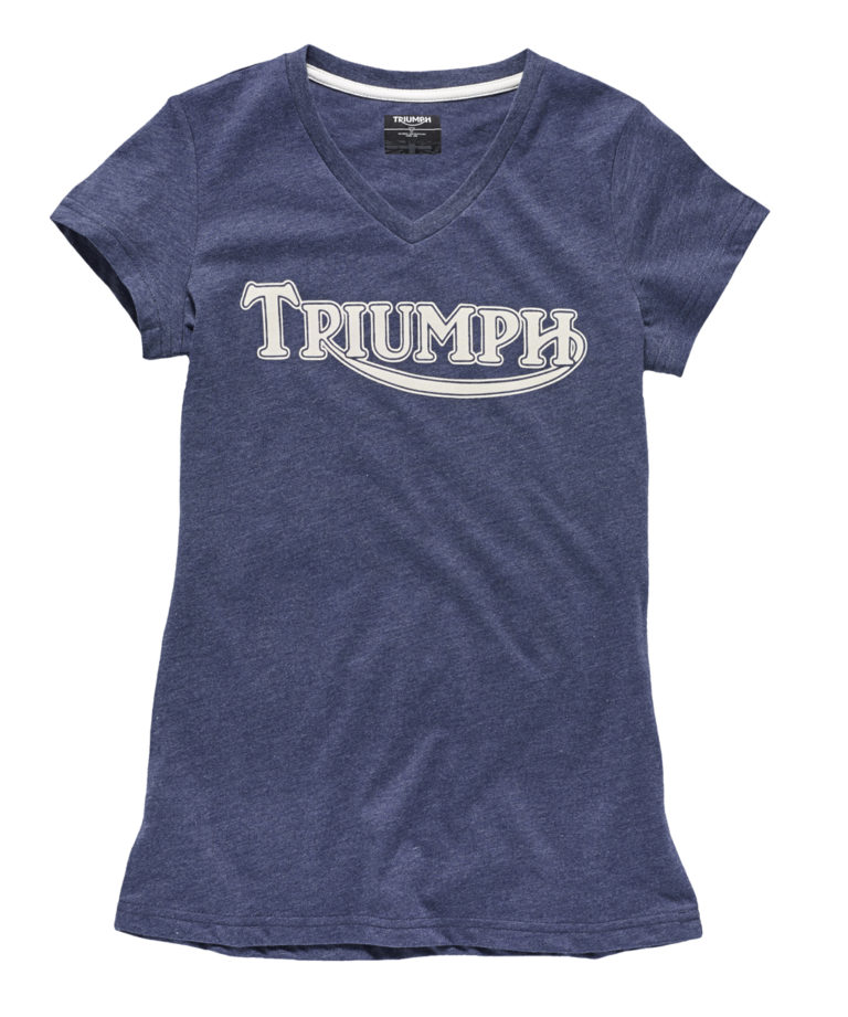 Triumph Ladies Vintage Logo T-Shirt - Blue