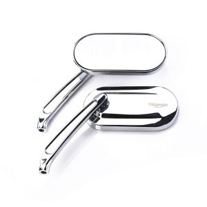 Triumph Oval Cast Mirrors - Chrome